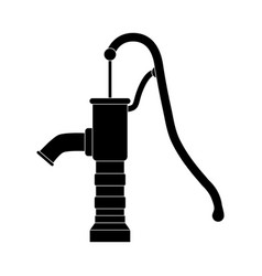 silhouette water pump design isolated on white vector image