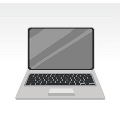 simple laptop pc front view vector image