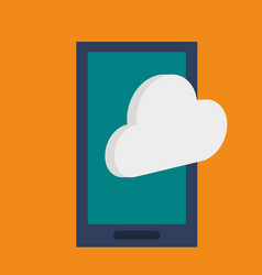 smartphone device technology cloud data vector image