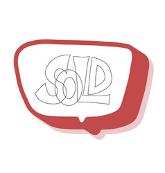 sold out text isolated stylized design vector image