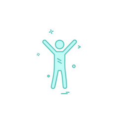 sportsman icon design vector image