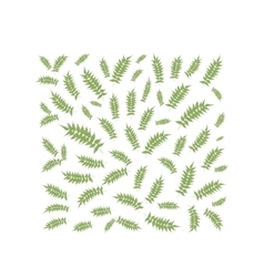 Spring leaf frame for your design vector