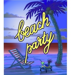 Summer Beach Lettring Party Flyer vector