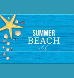 Summer tropical beach club background vector