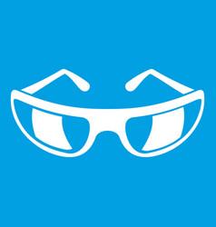 Sunglasses icon white vector