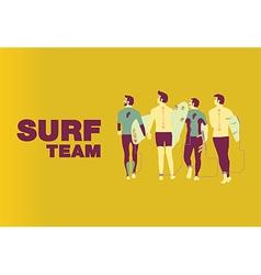 Surf team cover design on center vector