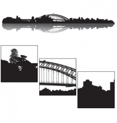 Sydney skyline vector