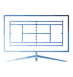 tennis tv translation icon vector image