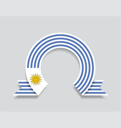 uruguayan flag rounded abstract background vector image