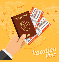 Vacation travel and tourism concept vector