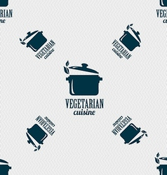 vegetarian cuisine sign Seamless pattern with vector image