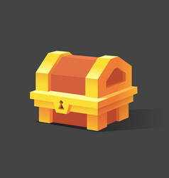 wooden chest set for game interface vector image