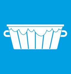 Wooden tub icon white vector