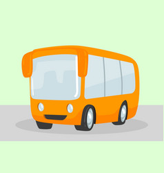 yellow school bus isolated cartoon style vector image