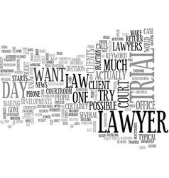 A day in the life of a trial lawyer text word vector