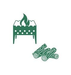 Brazier and firewood vector