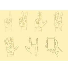 Hands sketch vector image vector image