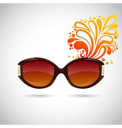 Realistic trendy woman sunglasses vector image vector image