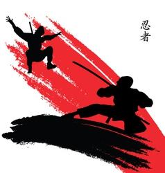 ninjas vector image vector image