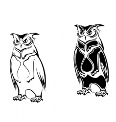 tattoo owl vector image vector image