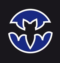 three bat vector image
