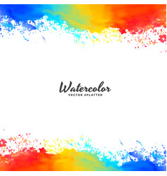 watercolor frame background in bright colors vector image vector image