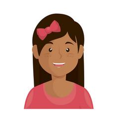 cartoon girl icon vector image vector image