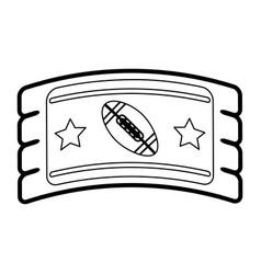 football tickets vector image