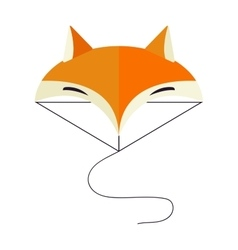 fox head cartoon style vector image