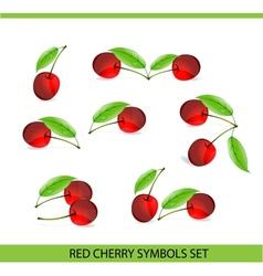 glass cherry symbols vector image vector image