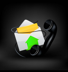 icon e-mail and phone vector image vector image