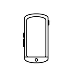 line smartphone mobile technology to call and talk vector image vector image