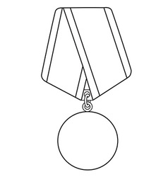 Medal outline drawing vector image vector image