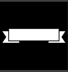 ribbon white color icon vector image vector image