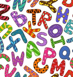 Seamless Pattern With Colorful Children Alphabet vector image vector image