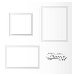 unusual blank frames set on white background vector image
