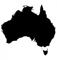 australia detailed map vector image