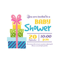baby shower badge happy mothers day insignias gift vector image