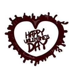 Chocolate happy valentines day 3d vector