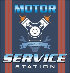 engine service vector image