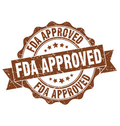 fda approved stamp sign seal vector image vector image