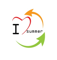 love summer icon color vector image vector image
