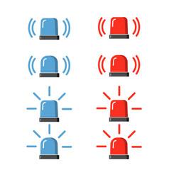 Police flasher siren set vector