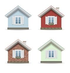Set building facades vector image vector image