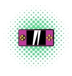 Smartphone icon comics style vector image
