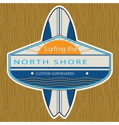 Surfer Sticker North Shore vector image vector image