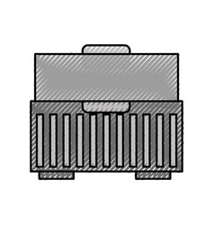 tool box isolated icon vector image vector image
