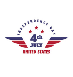 4th july united states independence day emblem vector