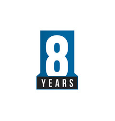8 years anniversary icon birthday logo vector image