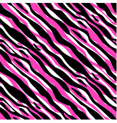 abstract cute zebra textile seamless pattern vector image